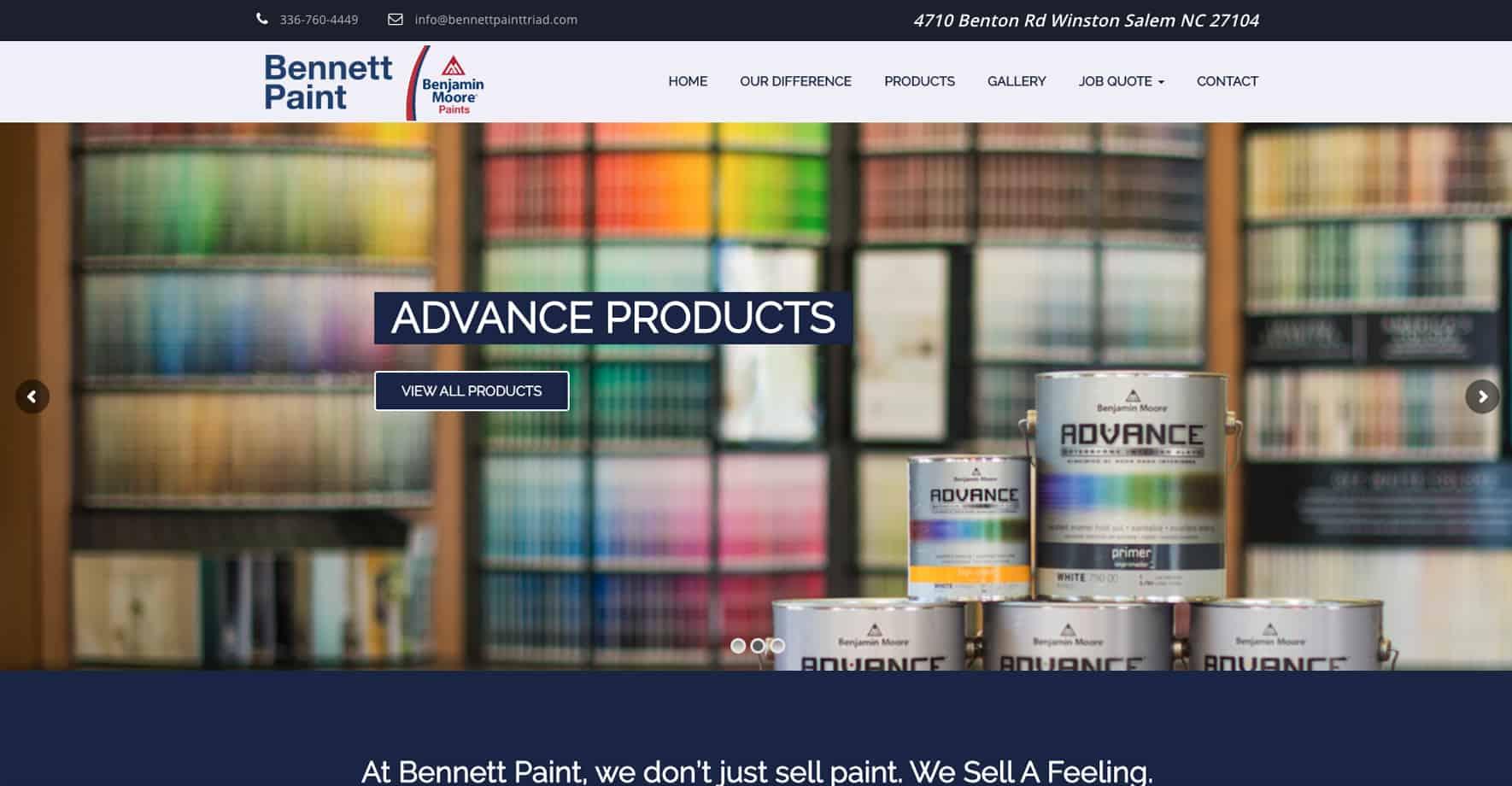 Painting Service Website Design