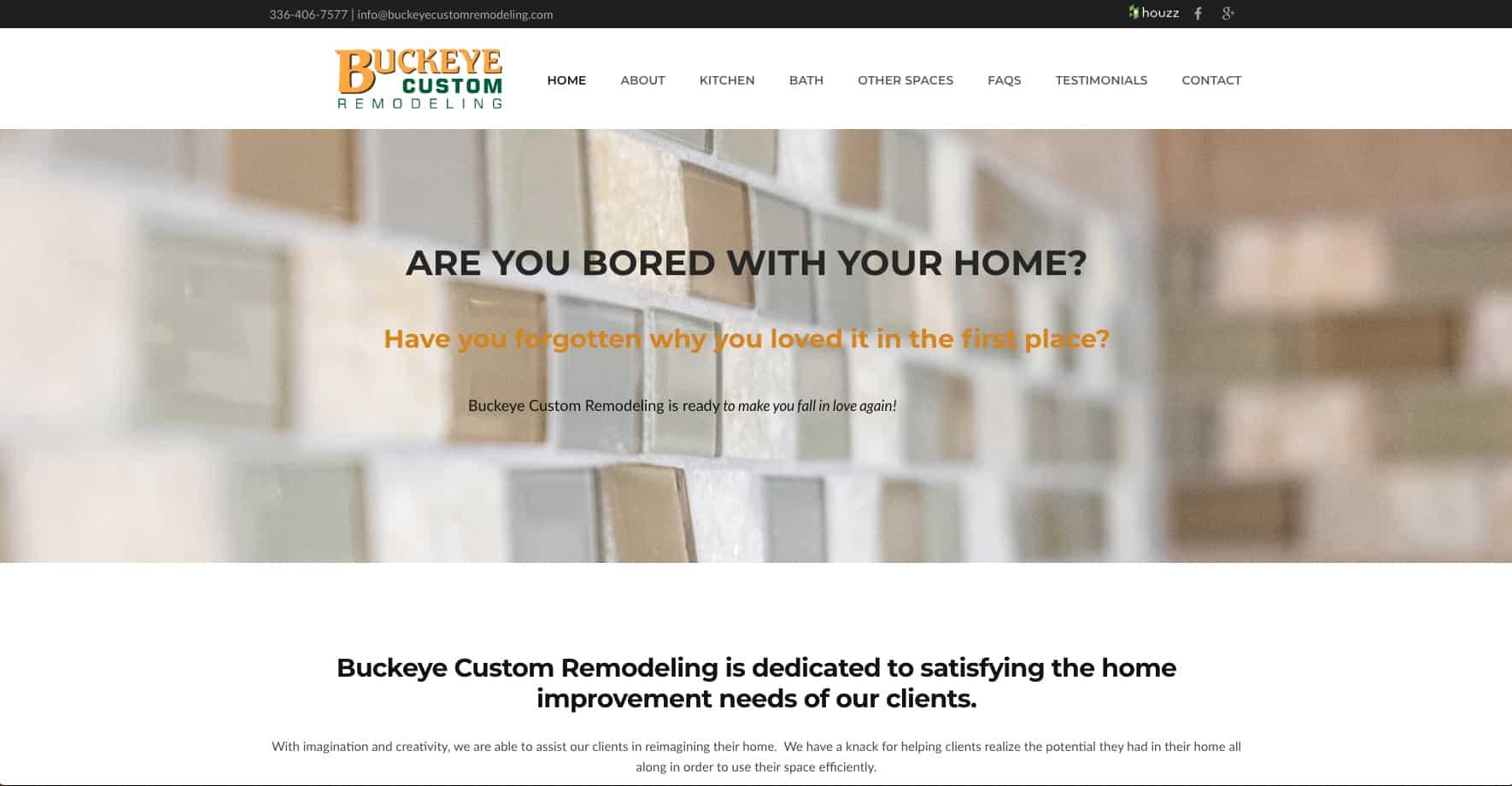 Remodeling Service Website Design