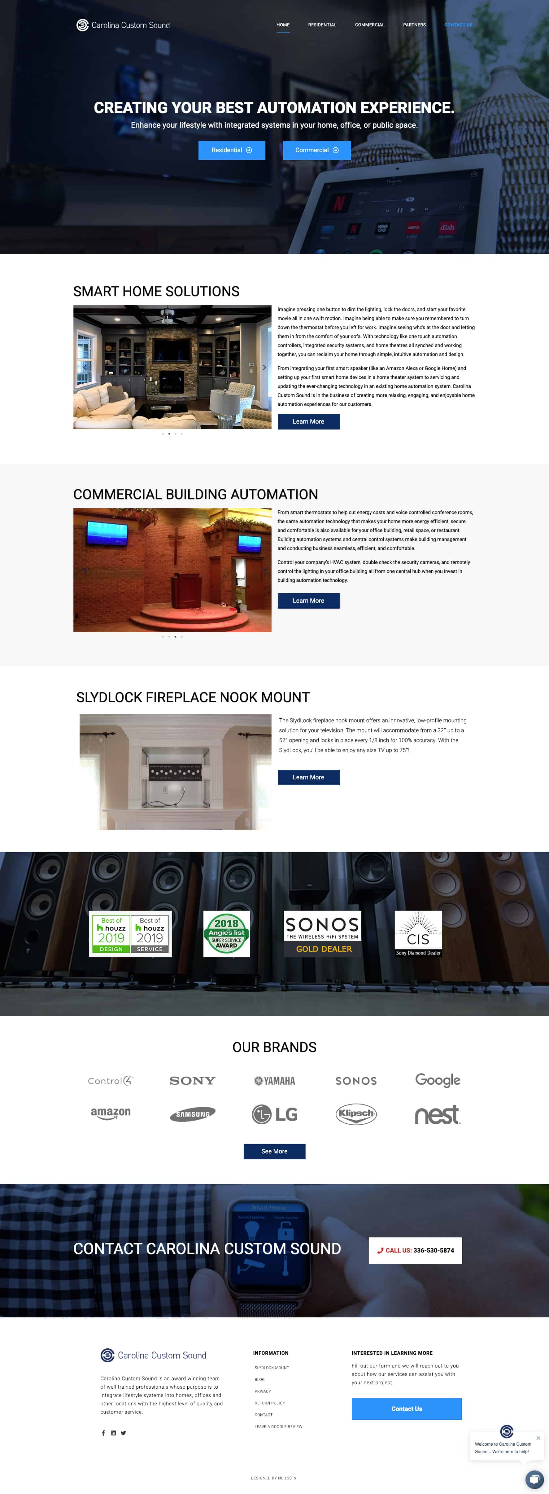 Home Automation Service Website