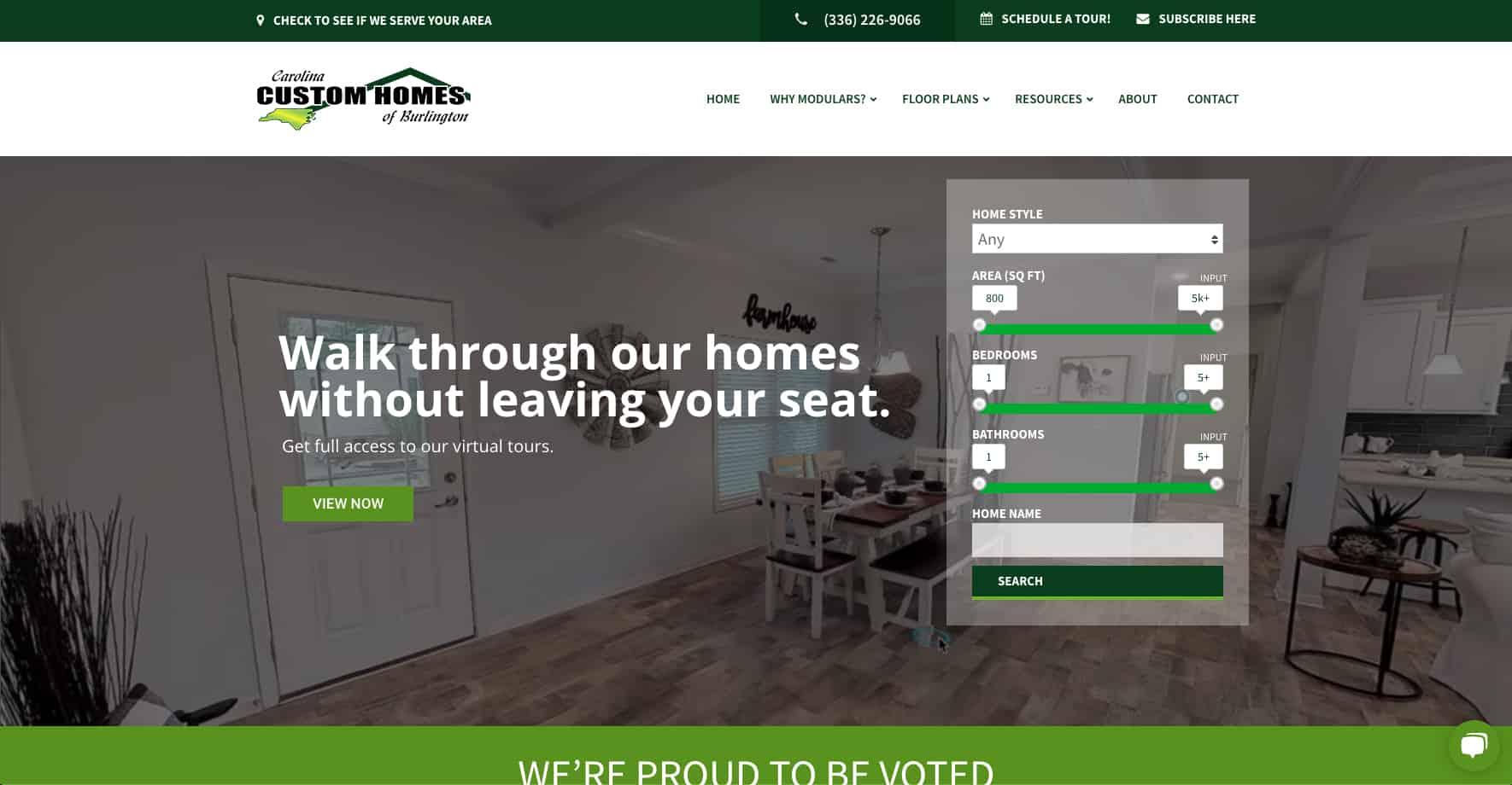 Home Construction Services Website