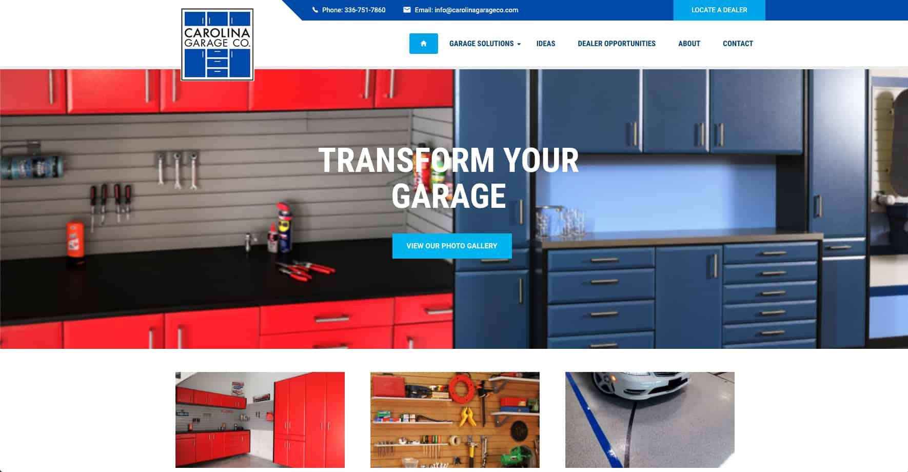 Home Organizational Service Website