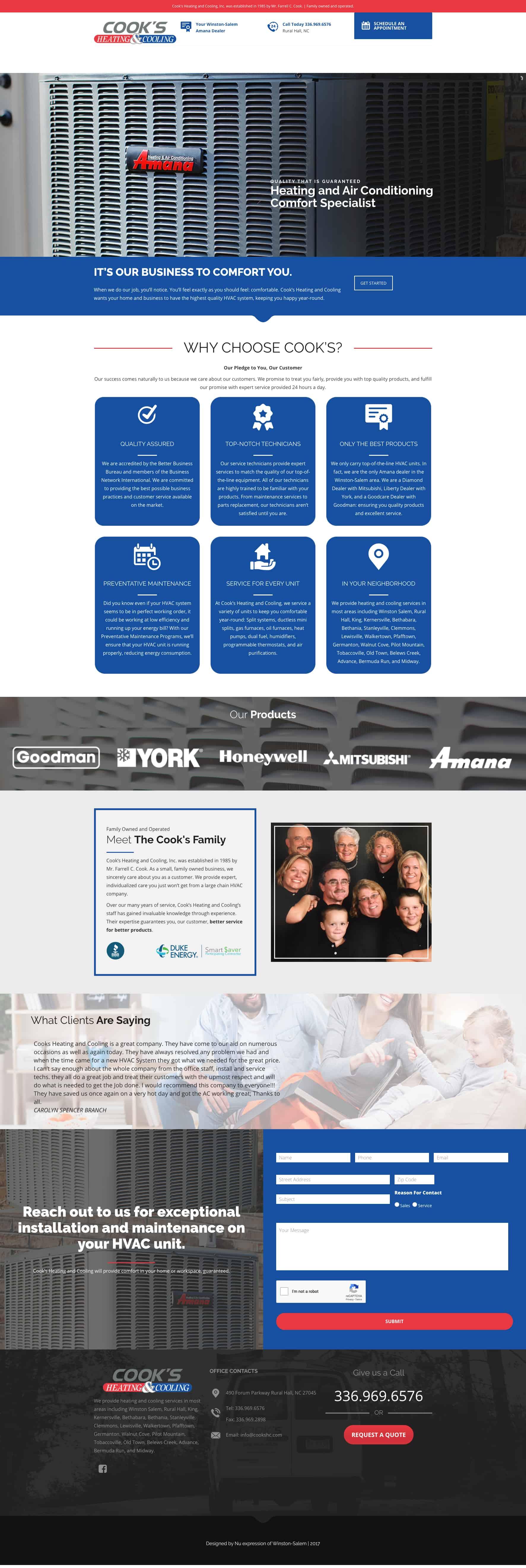 HVAC Service Website Design