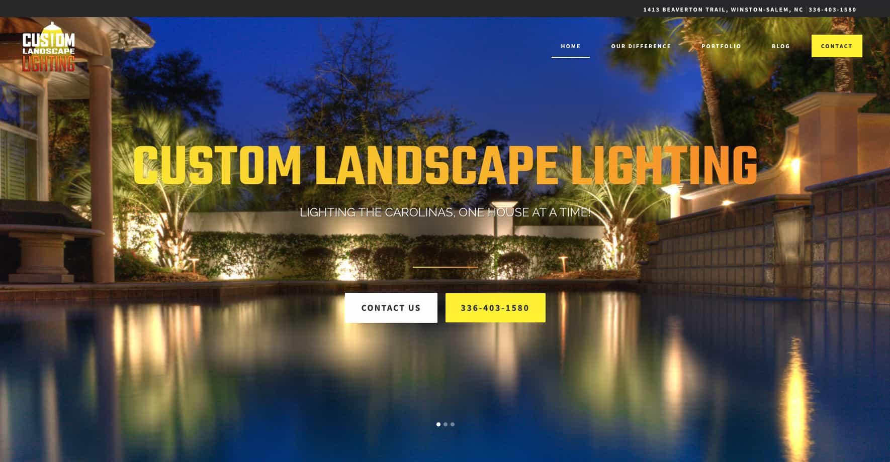 Landscape Lighting Service Website